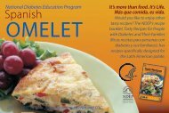 National Diabetes Education Program - Spanish Omlette Recipe Card