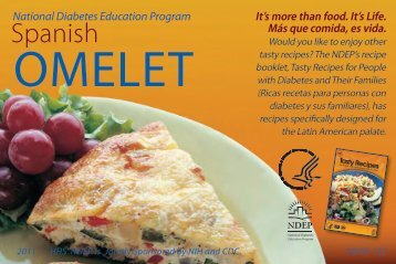 3 5 recipe cards a4 focus on food national diabetes education program spanish omlette recipe card forumfinder Images