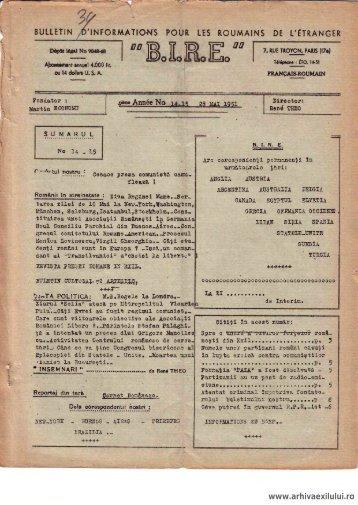 BIRE NR. 14-15 - arhivaexilului.ro