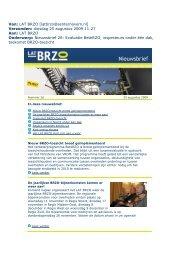 LAT BRZO Nieuwsbrief 26, 25 augustus 2009
