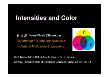 Intensities and Color