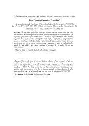 Reflexões sobre um Projeto de Inclusão Digital: Menos ... - UFRJ