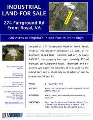 INDUSTRIAL LAND FOR SALE - Warren County EDA
