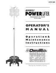 Operation& Maintenance Instructions OPERATOR'S MANUAL