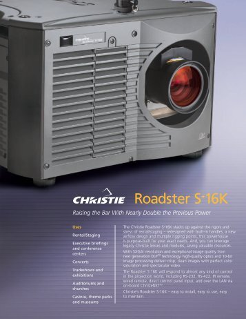 Roadster S+16K - The Projector Place