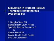 Simulation in Protocol Rollout: Therapeutic Hypothermia Presented by:
