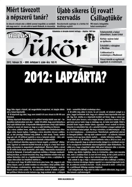 A kiadvány letöltése PDF formátumban - Halasmedia.hu