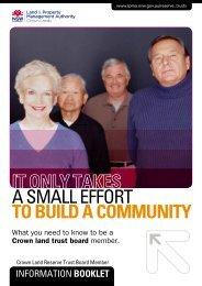 Trust Board member information booklet - Land