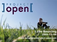 L10n Sourcing - Project Open