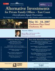 Alternative Investments for Private Family Offices - ALM Events