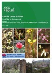 Draft Plan of Management for the Dargan Creek Reserve - Land