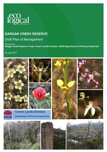 Draft Plan of Management for the Dargan Creek Reserve - Land