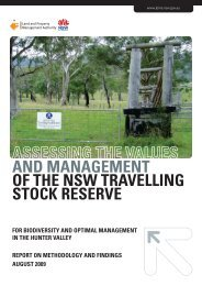 Assessing e Values and Management of the NSW Travelling ... - Land