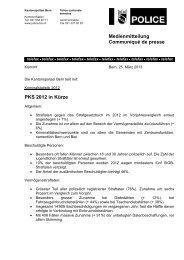 Kriminalstatistik in Kürze - Kantonspolizei Bern