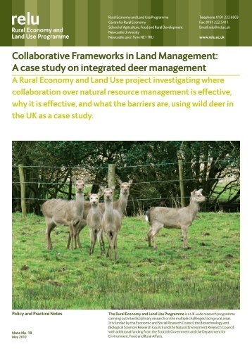 Collaborative Frameworks in Land Management: A case study on ...