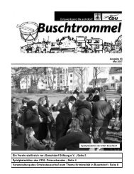 Buschdorf Stiftung eV - CDU-Kreisverband Bonn
