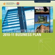 SPA Business Plan 2010-11 - Land - NSW Government