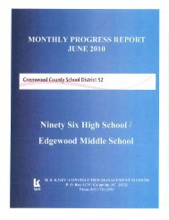 Update July 5, 2010 - Greenwood County School District 52