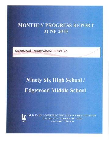 Update July 5, 2010 - Greenwood County School District 52