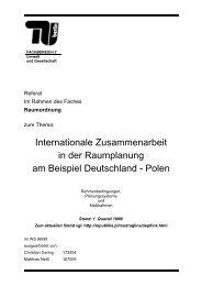Internationale Zusammenarbeit in der Raumplanung ... - Hintergrund