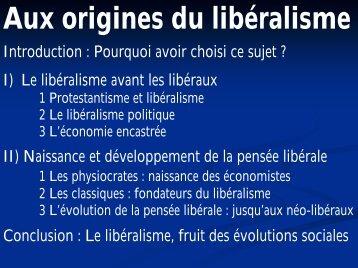 Aux origines du libéralisme - Laval