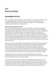 Jura Ba.jur. & cand.jur. Introduktion til Jura - Ilisimatusarfik