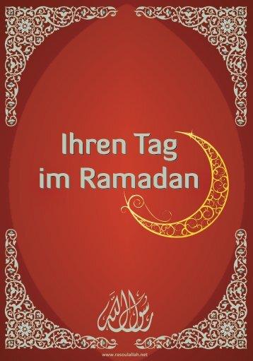 Ihren Tag im Ramadan - Lebens-, Selbst