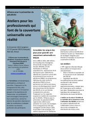 Brochure Ateliers APP 2012 - The Alliance for Malaria Prevention