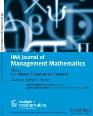 Special Issue Editors - IMA Journal of Management Mathematics ...