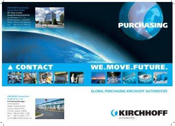 KIRCHHOFF Automotive Deutschland GmbH Mr ... - Kirchhoff Gruppe