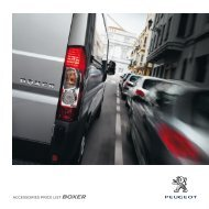 ACCESSORIES PRICE LIST BOXER - Peugeot