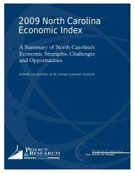 2009 North Carolina Economic Index - Department of Commerce