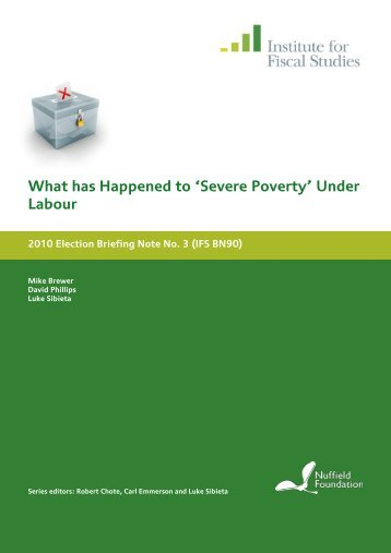 What has happened to 'severe poverty' under Labour?