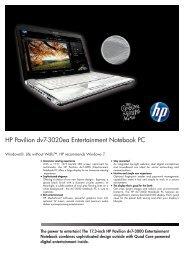 PSG Consumer 3C09 HP Notebook Datasheet - Box.co.uk