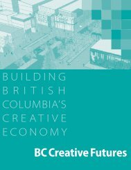 BC Creative Futures - Ministry of Community, Sport and Cultural ...