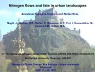 Nitrogen flows and fate in urban landscapes