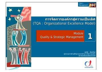 TQA module 1 value tqm str มช