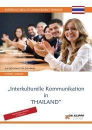 """""""Interkulturelle Kommunikation in THAILAND"""" - Dr. Klippe"""