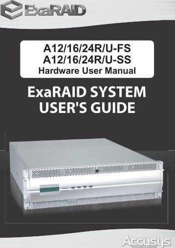ExaRAID Hardware User Manual - Accusys