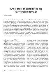 Arbejdsliv, maskulinitet og karrieredilemmaer - Nyt om Arbejdsliv