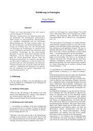 Einführung in Ontologien - dbis