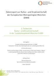 Kultur- und Kreativwirtschaft in der Landeshauptstadt München