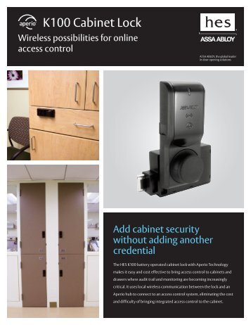 HES K100 Cabinet Lock Sell Sheet - Access Control Solutions from ...