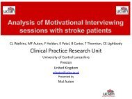 Analysis of Motivational Interviewing sessions with stroke patients