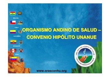 Presentación ORAS CONHU - Organismo Andino de Salud