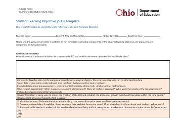 ohio slo template attachment b nys student learning objective template