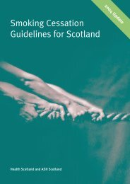 Smoking Cessation Guidelines for Scotland - Treatobacco.net