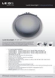 "Lucid downlight | Inbouwverlichting Lucid downlight 4"" | 6"" | 8"" - LEIDS"