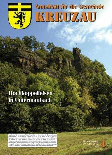 Amtsblatt Nr. 04/2010 vom 30.04.2010 - Gemeinde Kreuzau
