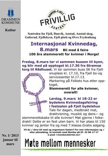 Internasjonal Kvinnedag, 8.mars Bli med å feire - Drammen kommune
